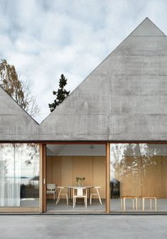 Concrete and wood.