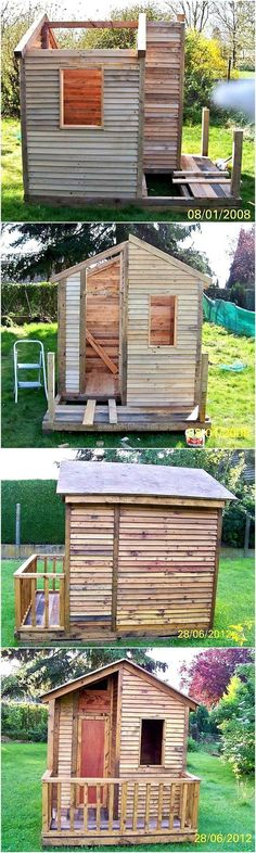 If you desire to store your gardening tools, your outdoor wooden and metal products at a safe place during extremely hot, the cold and rainy weather then, craft this beautiful and classic-looking recycled wood pallets garden cabin. This cabin will not only fulfill your storing needs but at the same time, give your garden a thought-provoking display.