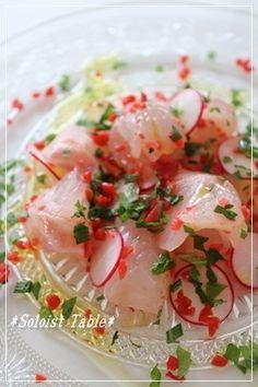 真鯛の梅カルパッチョ by ことゆりさん | レシピブログ - 料理ブログの ...