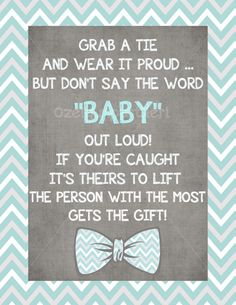 Chevron, blue and grey Little man Baby shower Printables PDF Instant Download on Etsy, $7.50