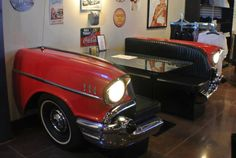 '57 Chevy split bench seat. @cawright77, we need this for our kitchen!