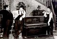 Laurel and Hardy.  CLASSIC!  [The Music Box]