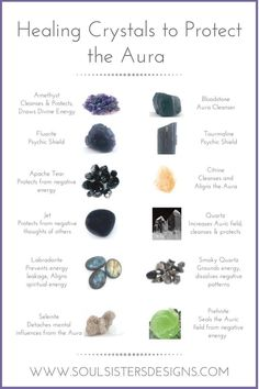 Different Healing Crystals and the way they protect our Aura by Soul Sisters Designs