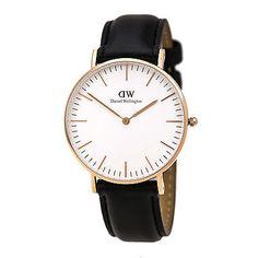 Daniel Wellington 0508DW Women's Rose Gold Steel Black Band Watch