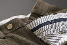 Jumbo Cord Trousers - Grey