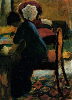 Elisabeth at the Table,August Macke 1887-1914,