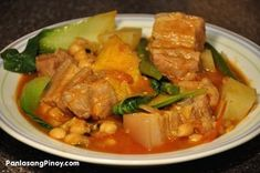 Pochero or Puchero is a well-loved Filipino stew. I know that you are familiar with this dish after we featured two variations: Beef Pochero and Chicken Pochero.