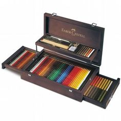 Deva -  Faber Castell Art&Graphic Collection 108st. in houten koffer