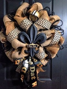 Saints burlap wreath by wreaths by Laura