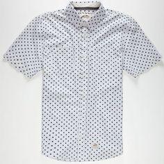 VANS Guilder Mens Shirt #vans #design #print #skate #style #white #dots