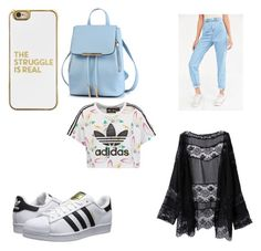 """""""title"""" by theenchantedgirl ❤ liked on Polyvore featuring adidas Originals, BDG and BaubleBar"""