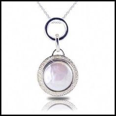 One of our favorites! Sterling silver coin pearl necklace with diamond accents. $299.00 Gayle's Jewelers  Bogalusa, LA