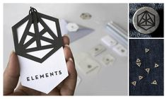 Identity Design - ELEMENTS - Female Fashion Brand by Bianca Christoffersen, via Behance