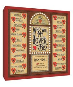Anticipating the twists and turns of one's love life is all fun and games with this handheld fortune teller that predicts the personality traits of future lovers. Will you find a charming and intelligent daredevil or a mysterious but unskilled poet? Valentine Gifts For Kids, Valentines Diy, Crayon Heart, Games Box, Casino Theme, Breakfast For Kids, Gift For Lover, Tween, Gifts For Him