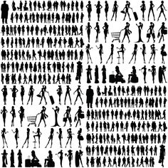 People silhouette vector | Vector Graphics & Vector Illustrations