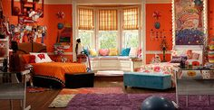 what color is the orange paint in liv and maddie's room - Google Search