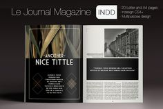 Le Journal Magazine by Luuqas Design on Creative Market
