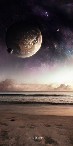 Eternal Sands by RedXen on DeviantArt Space Phone Wallpaper, Wallpaper Earth, Planets Wallpaper, New Wallpaper, Galaxy Wallpaper, Space Story, Green Galaxy, Space Illustration, Earth From Space