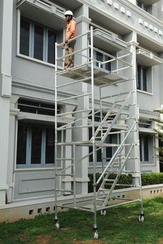 Mobile Tower Scaffolding in Chennai Aluminium Scaffolding, Mobile Tower, Stairways, Outdoor Structures, Horse, Architecture, Stairs, Staircases, Horses