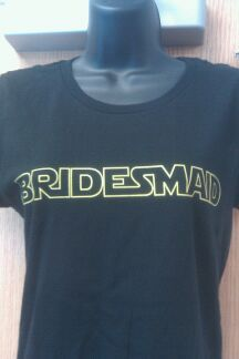 Star Wars Bridesmaid Shirts Custom Printed at Graphic Impact Wedding, Custom, Personalized, Printing http://tucsonprintedshirts.com/