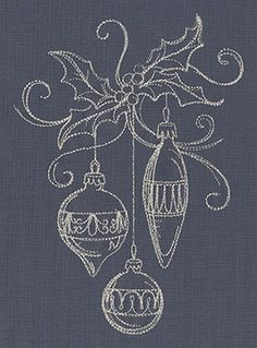 Touch of Tinsel - Ornaments design (UT7281) from UrbanThreads.com