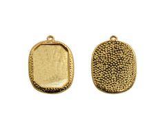 Base drusa ovalada martill.P012166-1 26x20mm/GP x Coin Purse, Base, Wallet, Necklaces, Bracelet, Gold, Accessories, Coin Purses, Handmade Purses
