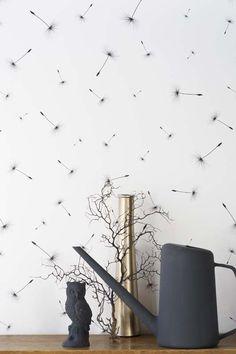 KARWEI | Pluisjes op de muur.  #karwei #behang #print #dessin
