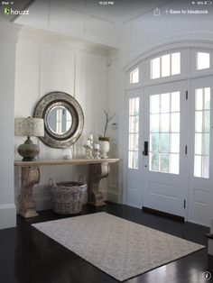 Entryway with console table.