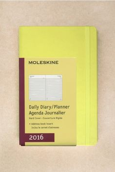 At NoteMaker.com.au - NEW - Moleskine - 2016 Daily Diary - Large (13x21cm) - Hard Cover - Hay Yellow