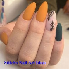 56 Perfect Almond Nail Art Designs for This Winter - How to apply nail polish? Nail polish on your own friend's nails Orange Nail Polish, Orange Nails, Acrylic Nails Orange, Acrylic Nails For Fall, Magenta Nails, Nails Turquoise, Blue Nail, Acrylic Nail Designs, Nail Art Designs