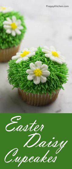 Easter Daisy Cupcakes via @preppykitchen