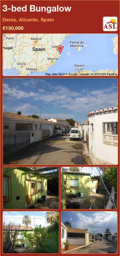 3-bed Bungalow in Denia, Alicante, Spain ►€130,000 #PropertyForSaleInSpain
