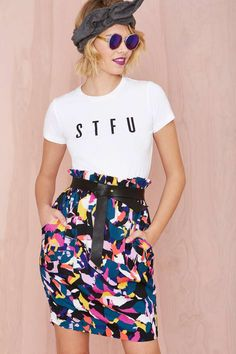 Nasty Gal Different Strokes Skirt