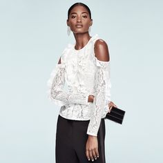 #BCBGMAXAZRIA #Holiday 2016 Collection. #lace #ruffles