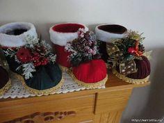 Si te quieres ir adelantando para hacer tus adornos navideños a mano, ¡es buen momento para empezar! Mira estas botas.