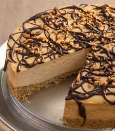 Recipe For Chocolate Drizzled Peanut Butter Cheesecake
