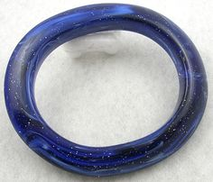 Blue Lucite Glitter Bangle - Garden Party Collection Vintage Jewelry