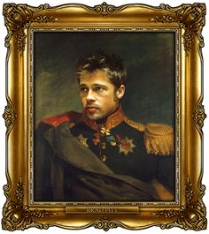 Brad Pitt by Steve Payne (who created the Replaceface series, where Steve took digital copies of George Dawe's paintings of russian generals and added celebrities faces to the portrait using photoshop)
