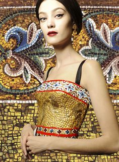 The Culture of Fashion: Mosaics - An history of the art of mosaic from Greek and Romans to Byzantines - Dolce&Gabbana Fall Winter 2014
