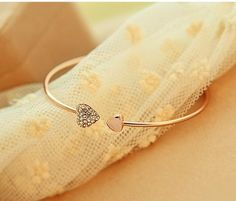 LOVE bracelet - gold and silver plated