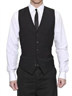 ShopStyle: Dolce & GabbanaWool And Silk Jacquard Vest