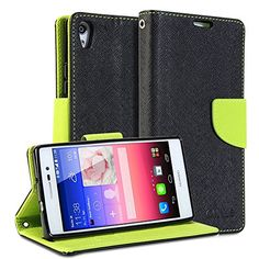 Huawei Ascend P7 Case, Gmyle(r) Wallet Case Classic For Huawei Ascend P7 - Black & Wasabi Green Cross Pattern http://www.smartphonebug.com/accessories/best-18-huawei-ascend-p7-cases-and-covers/