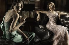 Gatsby-inspired editorial on + Grace Weddings Party Like Gatsby, Gatsby Style, The Great Gatsby, Vogue Editorial, Editorial Fashion, Gatsby Costume, Gatsby Dress, 20s Fashion, Vintage Fashion