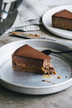 Buckwheat pie with chestnuts, caramel and chocolate. Extremely delicious autumn dessert that's gluten free. Homemade buckwheat crust with layers of creamy caramel and silky chocolate.