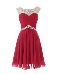 Dresstells Short Prom Dresses Sexy Homecoming Dress for Juniors Birthday Dress Dark Red Size 10