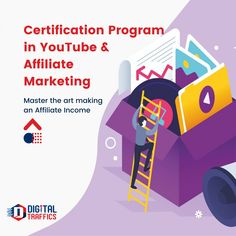The Certification Course in YouTube Advertising and Advertising will transform you into a YouTube Advertising Expert Professional. Our curriculum covers a combination of in-depth knowledge in YouTube SEO, Advertising and Affiliate Marketing sources to help you explore Affiliate earning opportunities using YouTube and other Affiliate sources. On completion, you will be able to elevate a brands presence on YouTube and run campaigns to generate views on YouTube. Youtube Advertising, Affiliate Marketing, Programming, Certificate, Curriculum, Seo, Digital Marketing, Knowledge, Explore