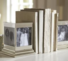 #Photo bookends are a great way to add a little extra something to your #bookshelves