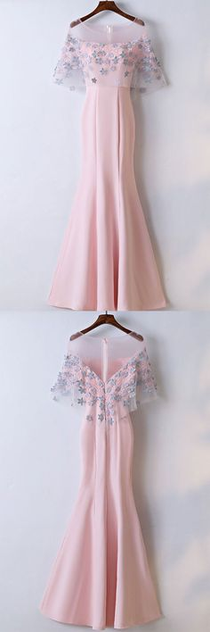 Custom Made Popular Prom Dresses 2018 Mermaid Floor Length Affordable Pink Prom Dresses Party Dresses Pink Prom Dresses, Mermaid Prom Dresses, Prom Party Dresses, Trendy Dresses, Cute Dresses, Beautiful Dresses, Formal Dresses, Dress Party, Formal Prom