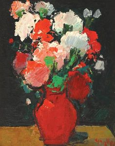 George Leslie Hunter, Red and white carnations