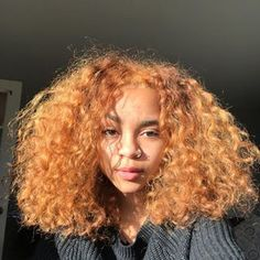 Dyed Curly Hair, Dyed Natural Hair, Dye My Hair, Natural Hair Care, Curly Hair Styles, Natural Hair Styles, Baddie Hairstyles, Girl Hairstyles, Light Skin Girls